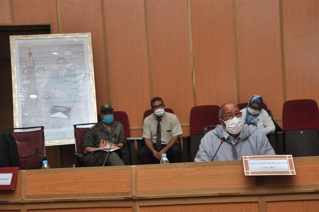 صورة انتخاب احمد اخشيشن رئيسا لمجموعة الجماعات الترابية مراكش للنقل