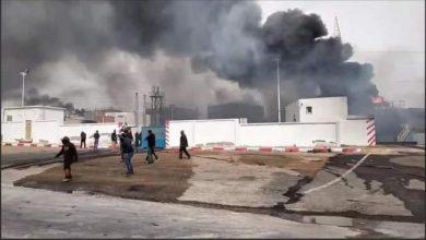 صورة انفجار داخل وحدة صناعية يودي بحياة عاملين بالمحمدية