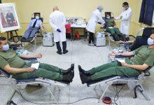 صورة تنظيم حملة للتبرع بالدم بمركز التكوين للتموين العسكري التابع للقوات المسلحة الملكية
