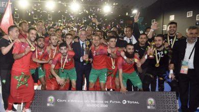 """صورة المنتخب المغربي يظفر بـ""""كأس العرب"""" على حساب نظيره المصري"""