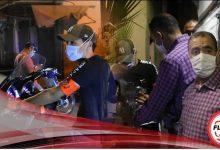 صورة حملة أمنية لعناصر الدائرة الأمنية الخامسة بمراكش لردع مخالفي حالة الطوارئ الصحية.