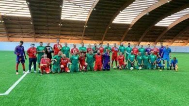 صورة مباراة استعراضية بين السفراء ونجوم مغاربة