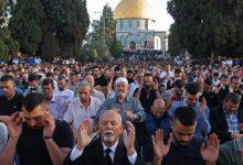صورة نحو 100 ألف مصل أدوا صلاة عيد الفطر في المسجد الأقصى المبارك
