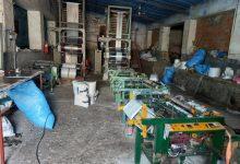 صورة ضبط وحدة سرية لإنتاج الأكياس البلاستيكية وحجز أزيد من 18.6 طن من الأكياس الممنوعة والمواد الأولية
