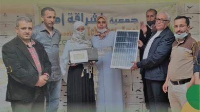 صورة جماعة وجان .. جمعية إشراقة أمل تشرف على تجهيز ثلاثة دواوير بمصابيح و ألواح الطاقة الشمسية.