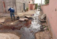 صورة انفجار منشآت التصفية الأولية لتصريف مياه المجزرة المثقلة بالفضلات الملوثة أمام صمت رهيب للجهة المسؤولة.