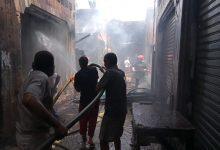 صورة خسائر فادحة جراء حريق مهول بسوق الخميس بمراكش في عيد الاضحى