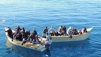 صورة انقاذ أكثر من 400 مهاجر بعرض البحر المتوسط
