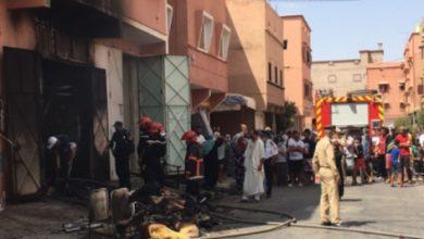 صورة عاجل.. النيران تأتي على محل تجاري للمفروشات بحي القدس بمدينة قلعة السراغنة