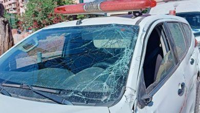 صورة عاجل .. اصطدام سيارة إسعاف بسيارة خفيفة بمراكش يخلف خسائر مادية فادحة.
