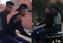 صورة اعتقال لصين ظهرا في فيديو اثناء فرارهما بعد تنفيذ عملية سرقة بمراكش